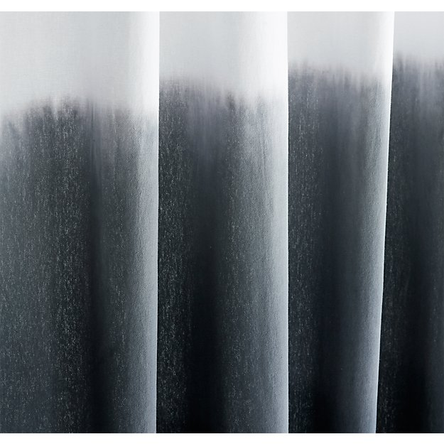 light gray shower curtain. ombre black shower curtain  CB2