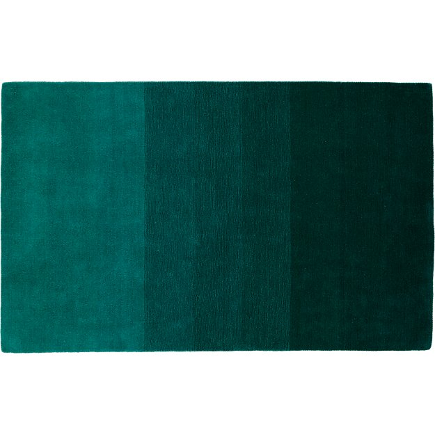 ombre teal rug 5'x8'