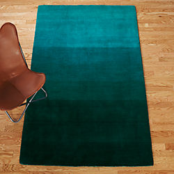 ombre teal rug