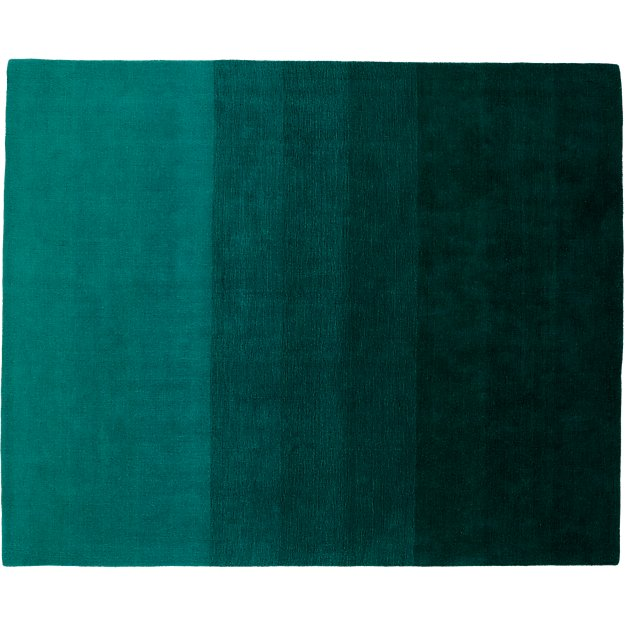Ombre Teal Rug 8 X10 Cb2