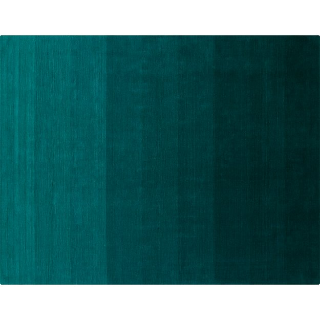 ombre teal rug 9'x12'