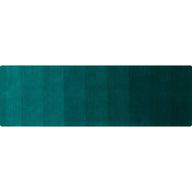 ombre teal runner 2.5'x8'