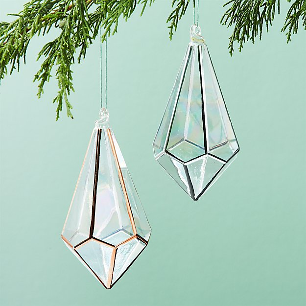 On The Edge Metallic Drop Ornaments