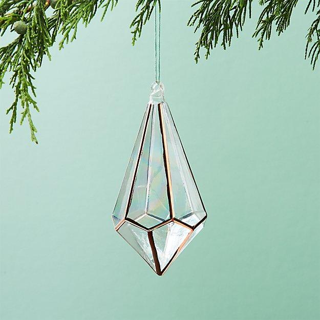 On The Edge Metallic Copper Drop Ornament