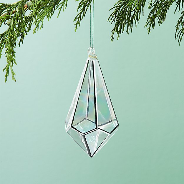 On The Edge Metallic Silver Drop Ornament