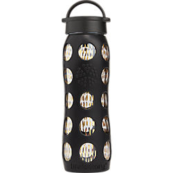 onyx black and gold water bottle