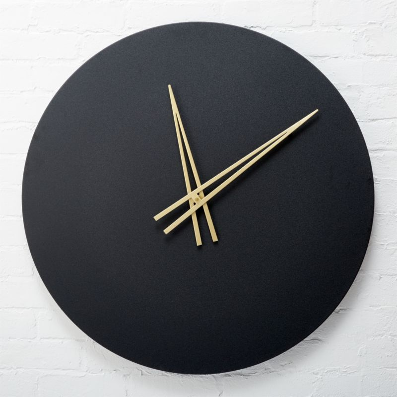 contemporary wall clocks ora black wall clock reviews cb2 11805