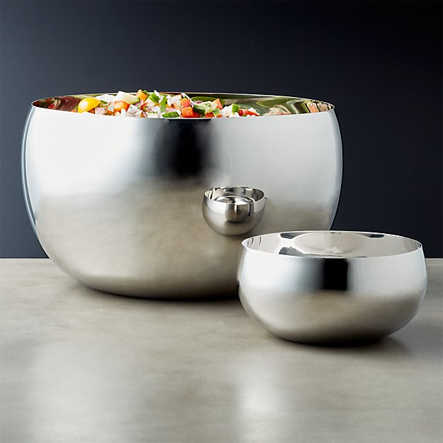 Orb Stainless Steel Serving Bowls