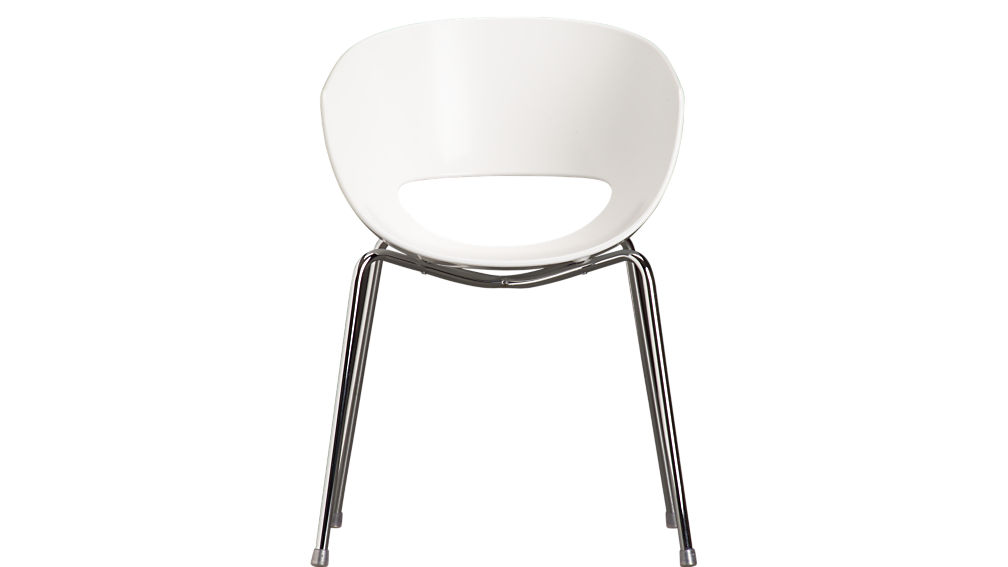 orbit white arm chairCB2