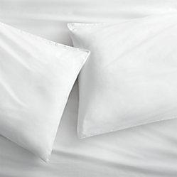 Organic White Percale Queen Sheet Set Cb2