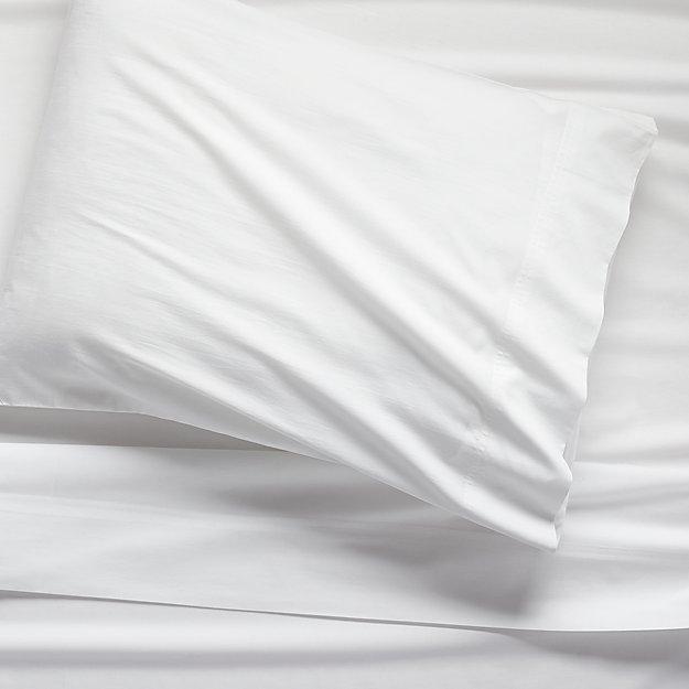 Organic White Percale Twin Sheet Set