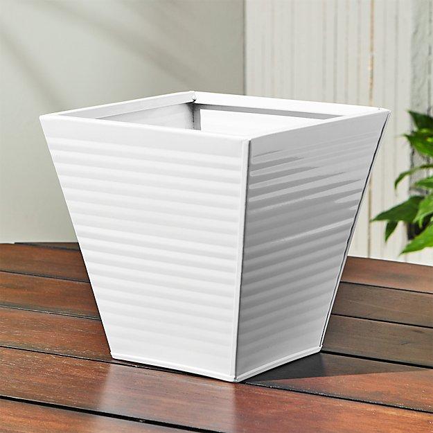 oscar babe hi-gloss white rail planter