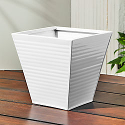 oscar babe hi-gloss white rail planter and rail frame