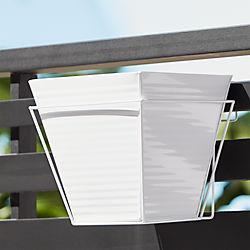 oscar babe hi-gloss white rail planter and rail frame