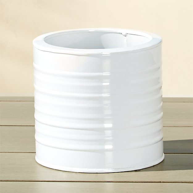 oscar hi-gloss white herb planter