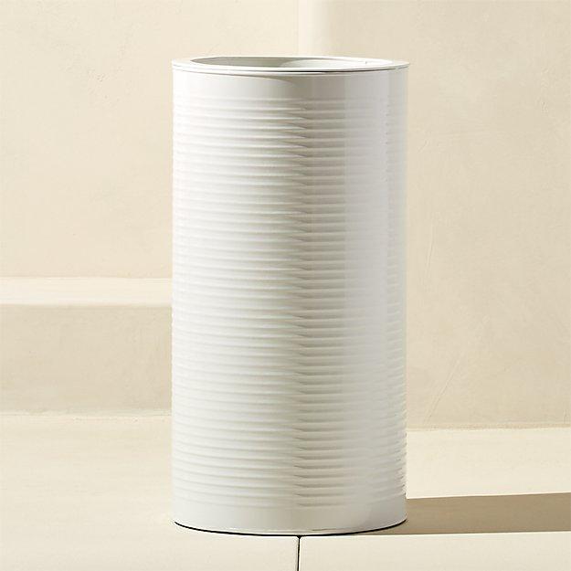 oscar medium hi-gloss white planter