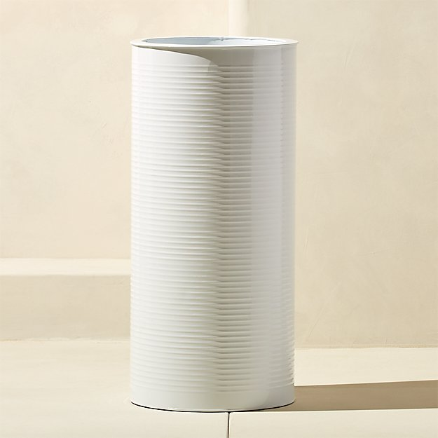 oscar large hi-gloss white planter