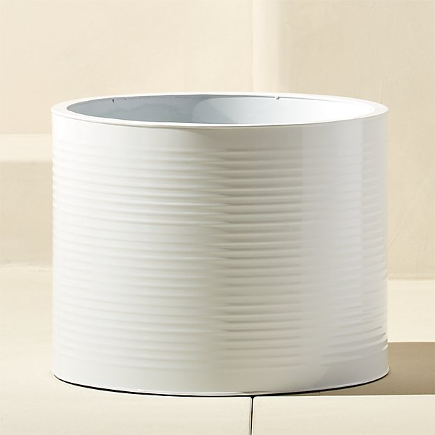 oscar small hi-gloss white planter