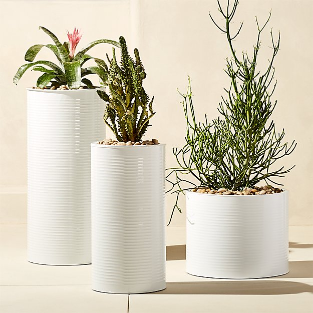 oscar hi-gloss white planters