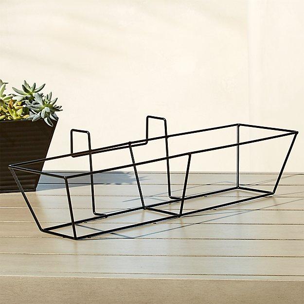 oscar matte black rectangular rail frame