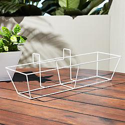 oscar hi-gloss white rectangular rail frame