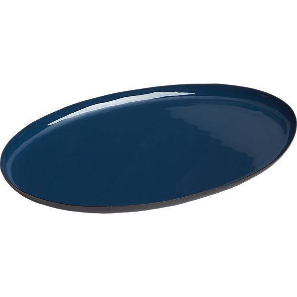 OvalEnamelBlueLargeTrayF16