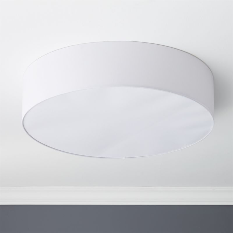 Oversized drum flush mount lamp cb2 aloadofball Gallery
