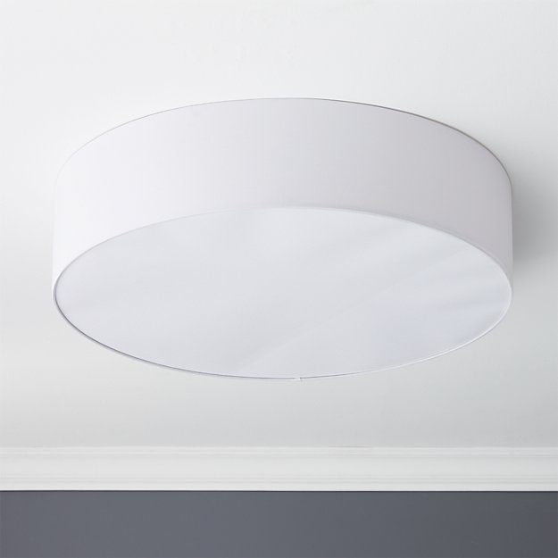 oversized drum flush mount lamp
