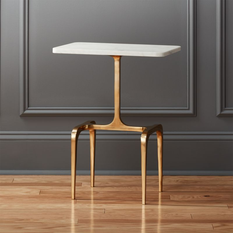 Oxford Marble Side Table | CB2