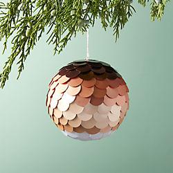 Paiette Copper Ball Ornament