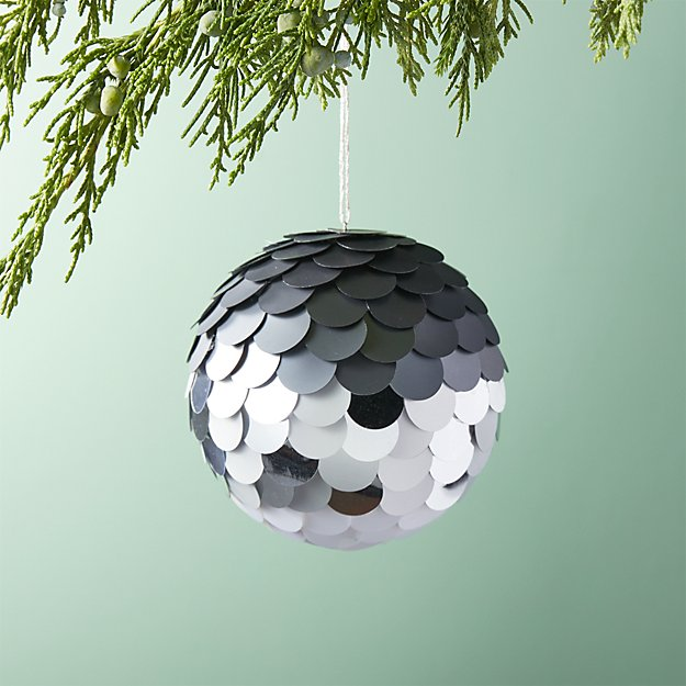 Paiette Silver Ball Ornament