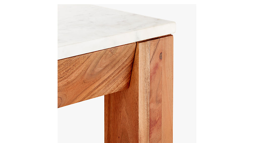 """palate marble 36"""" rectangular counter table"""