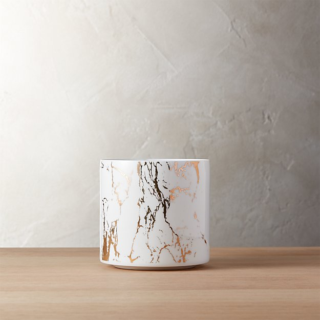 palazzo small marbleized planter