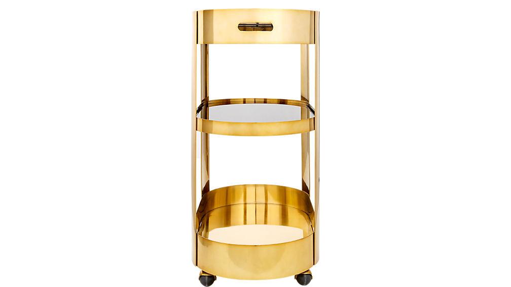 Paloma Brass Bar Cart