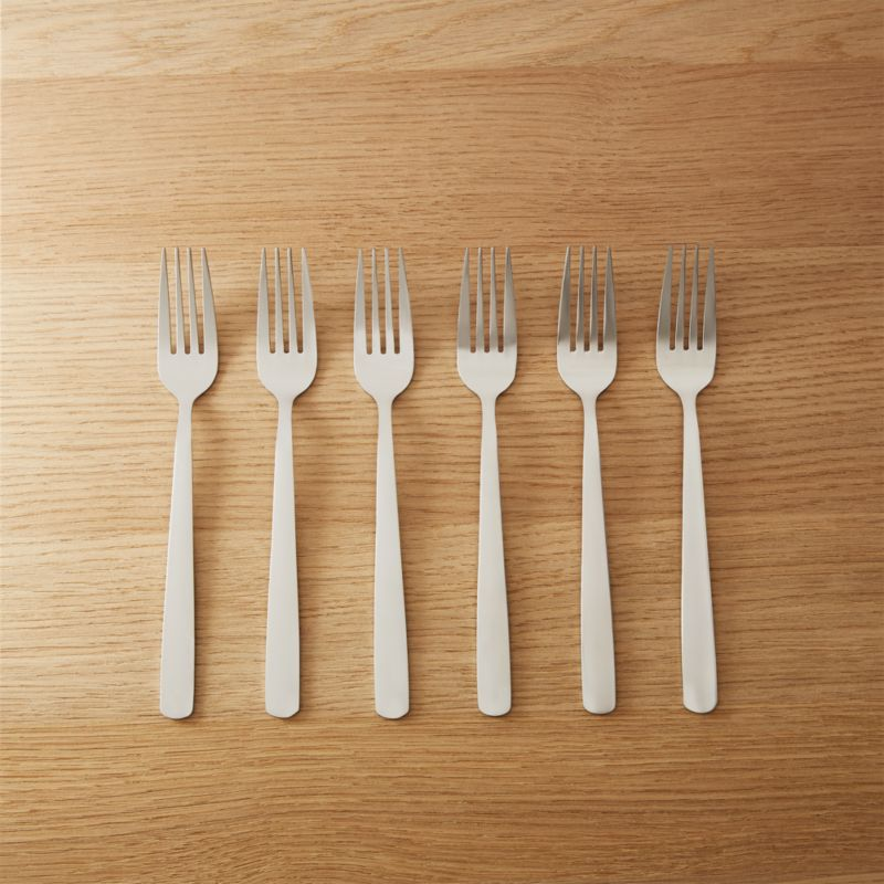 Set Of 6 Party Forks In Flatware Reviews Cb2