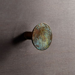 patina brass knob