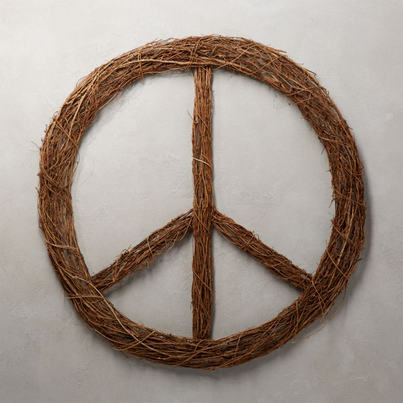 Peace Twig Wreath Reviews Cb2
