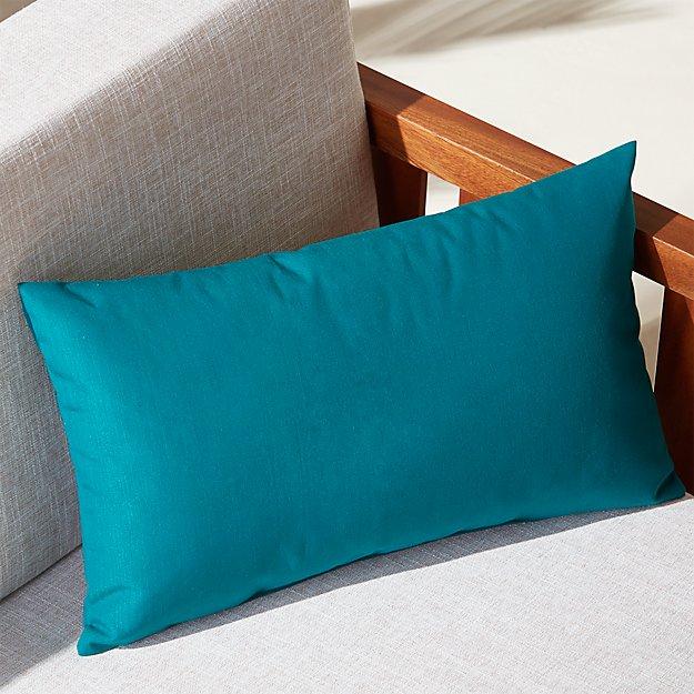 """20""""x12"""" peacock outdoor pillow"""
