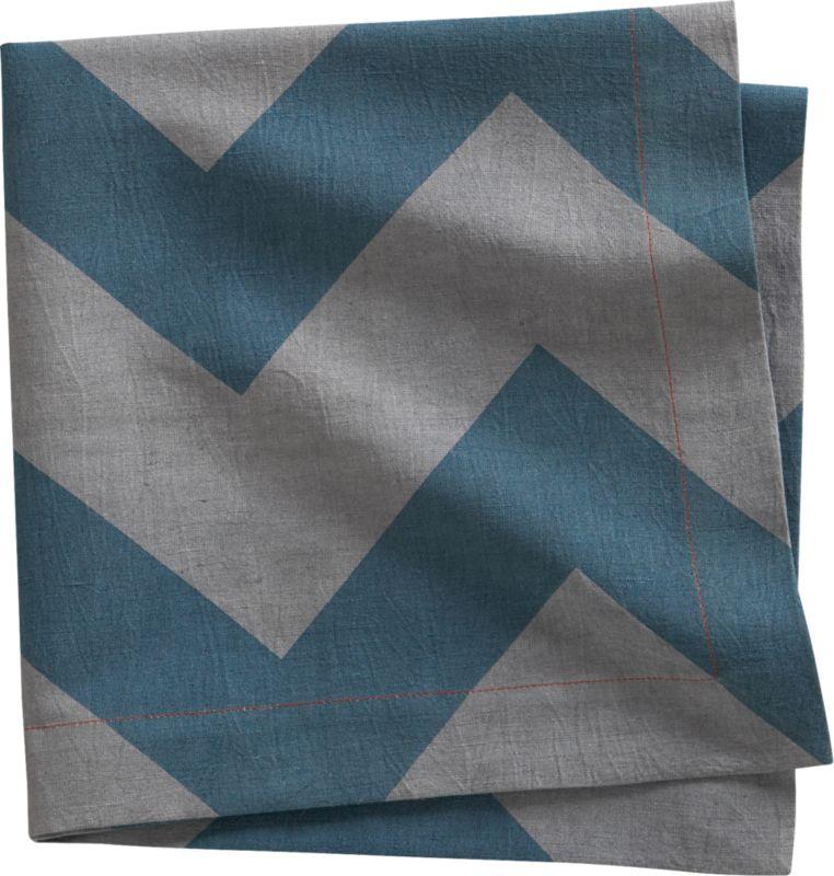 peaks blue-green napkin