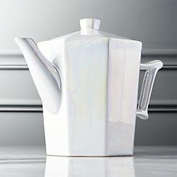 Pearl Reactive Luster Teapot