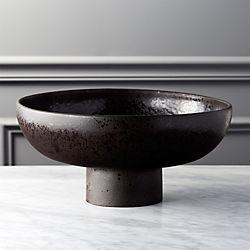 Black Pedestal Bowl