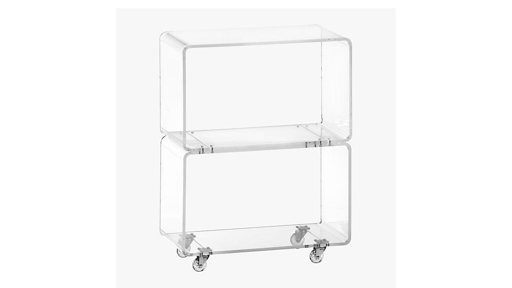 Peekaboo Acrylic Rolling Two Shelf Reviews Cb2