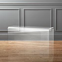 peekaboo acrylic bench