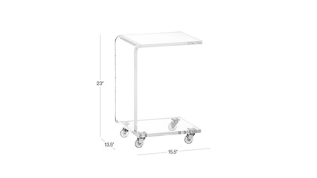 Peekaboo Acrylic C Table Dimensions