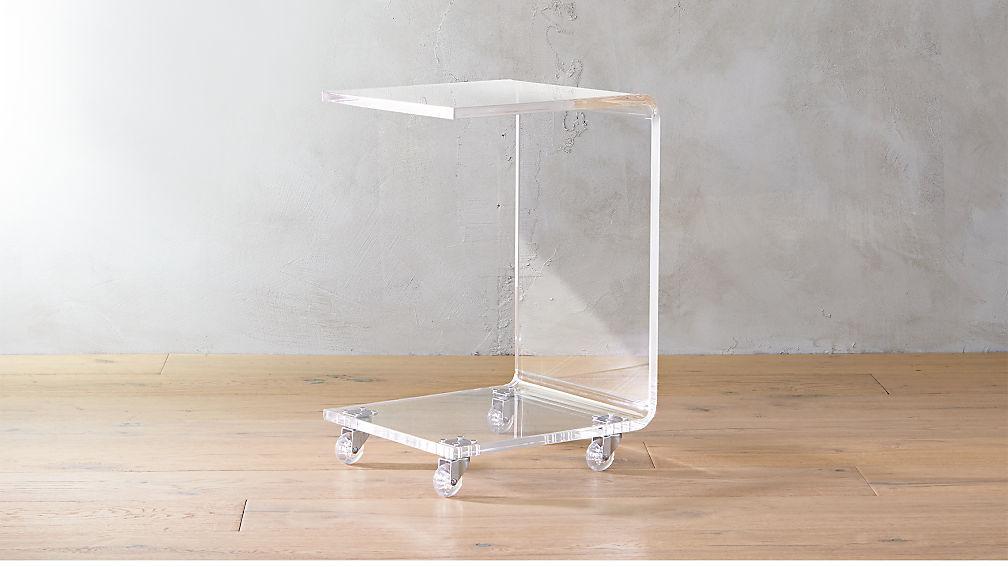 Peekaboo Acrylic C Table Reviews Cb2