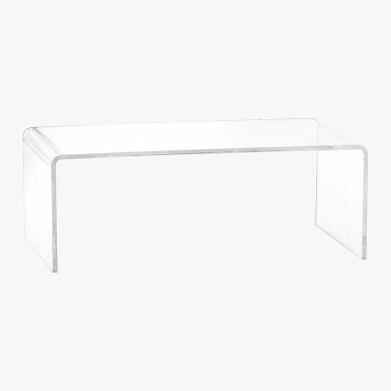 peekaboo acrylic coffee table Reviews CB2