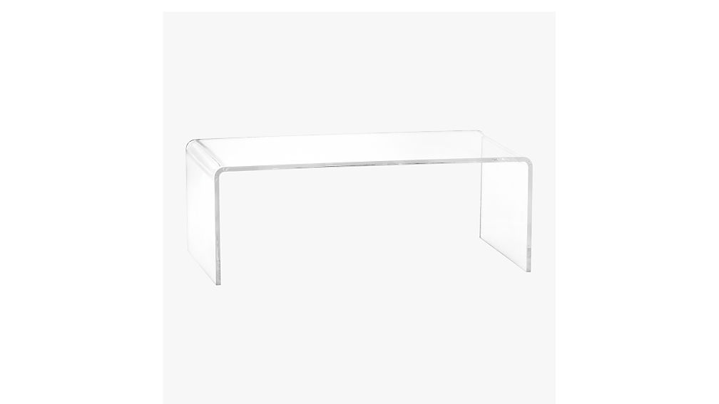 peekaboo acrylic coffee table cb2. Black Bedroom Furniture Sets. Home Design Ideas