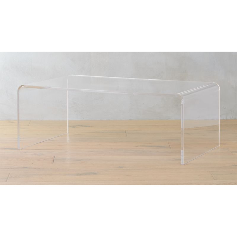 peekaboo acrylic coffee table Reviews CB2