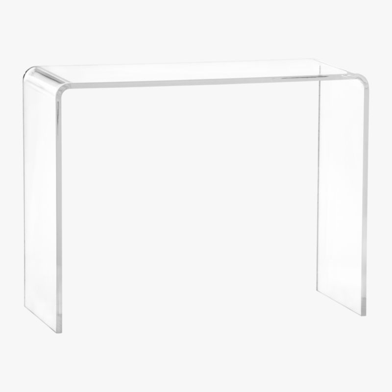 peekaboo 38 acrylic console table Reviews CB2