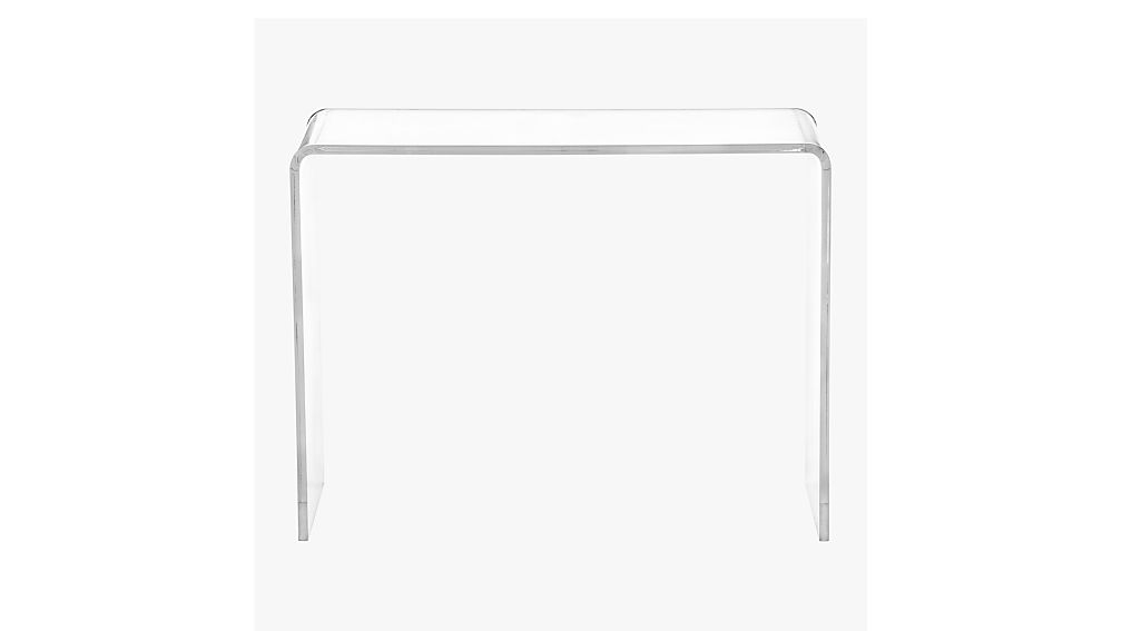 acrylic console table cheap canada with shelf peekaboo
